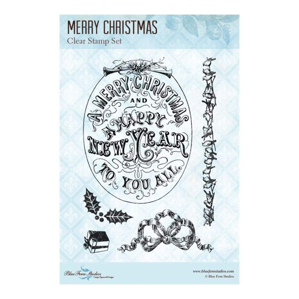 Blue Fern Studios Clear Stamps 4 inch X6 inch Merry Christmas