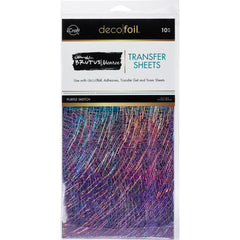 Therm O Web - Brutus Monroe Deco Foil - Transfer Sheets 6 inchX12 inch 10 pack - Purple Sketch