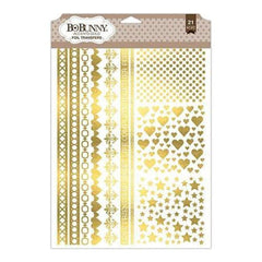 Bo Bunny - Essentials Foil Transfer 9 Inch X12.5 Inch - Accents/Gold