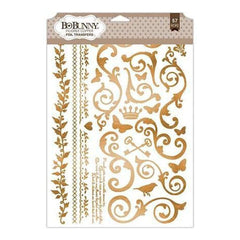 Bo Bunny - Essentials Foil Transfer 9 Inch X12.5 Inch - Filigree/Copper