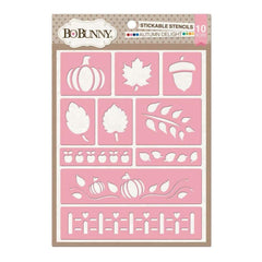 Bo Bunny - Essentials Stickable Stencils 9.5 inch X6.5 inch Autumn Delight