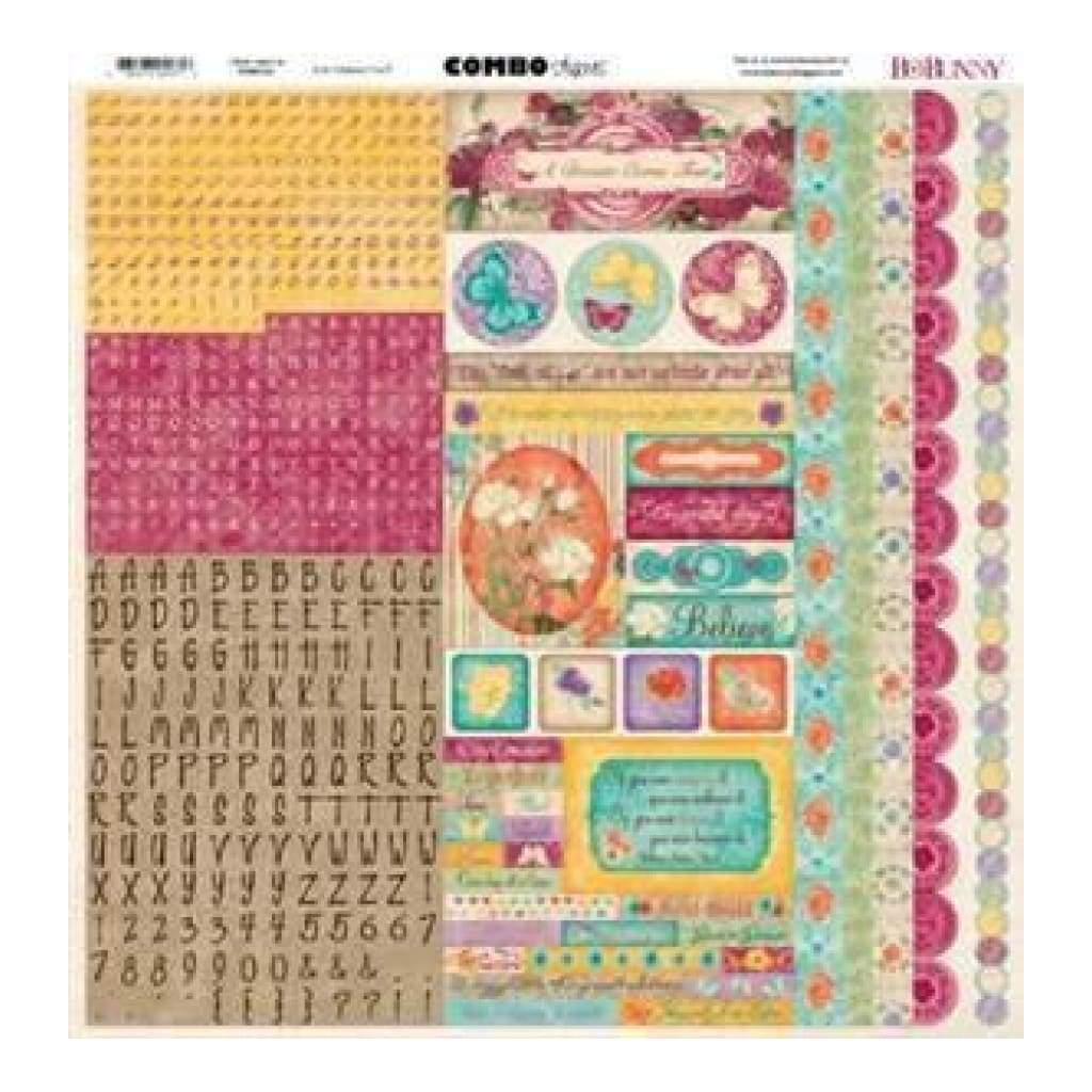 Bo Bunny Press - Ambrosia - 12X12 Combo Stickers