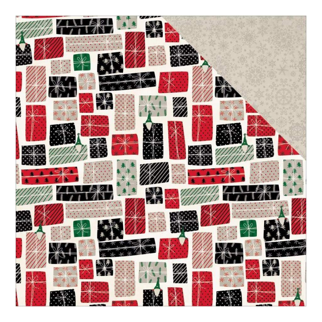 BoBunny - Merry & Bright Double-Sided Cardstock 12 inch X12 inch - All Wrapped Up