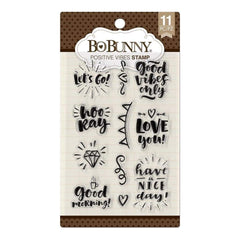 BoBunny Stamps Positive Vibes