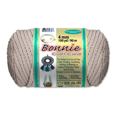 AB 1 Factory Sealed Bonnie Macrame Braid 6MM 100 Yards Macrame Crafts Brown