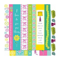 "Cosmo Cricket - Delovely Double-Sided Borders 12""X12"" Sheet"