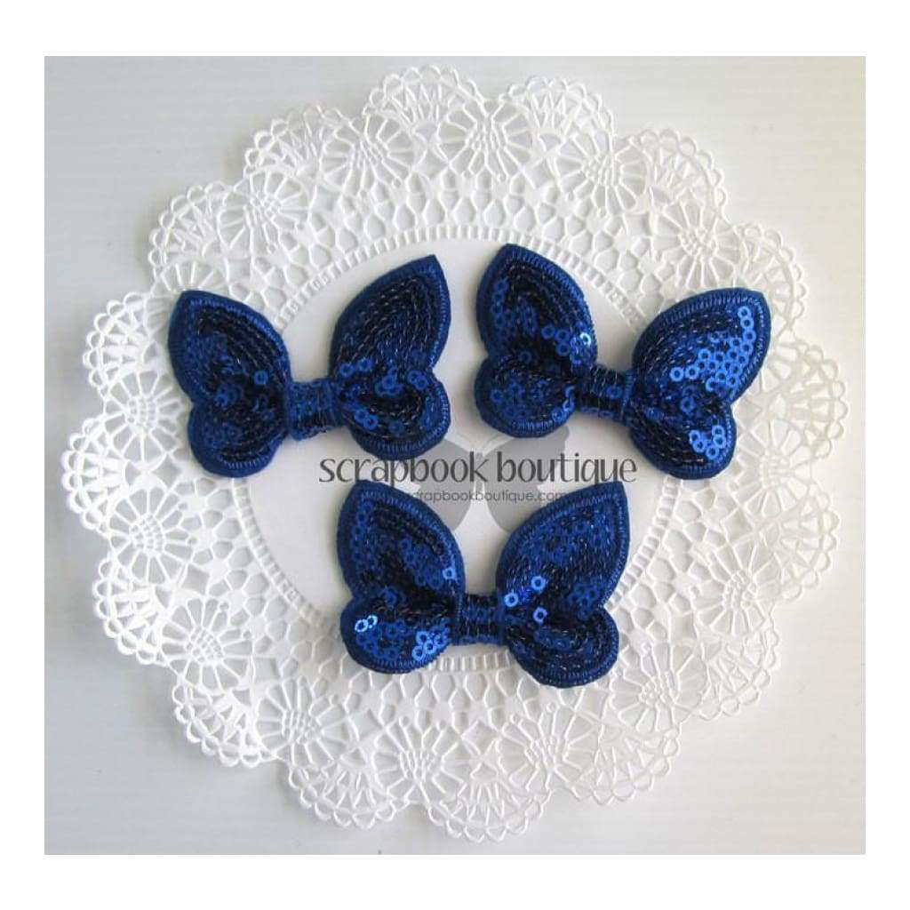 Boutique Crafts - Sequin Butterflies - Royal - 6Cm (3 Pack)