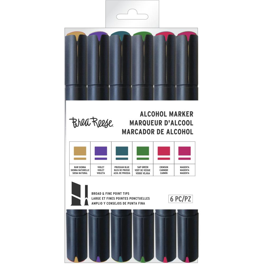 Brea Reese Alcohol Marker Set 6 pack - Jewel