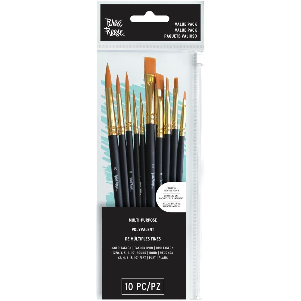 Brea Reese Paint Brush Set Assorted 10 pack