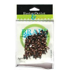 Eyelet Outlet Round Brads 4mm 70 pack - Brushed Copper