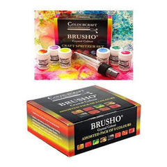 Brusho Crystal Colours Craft Spritzer Set 8 Pack
