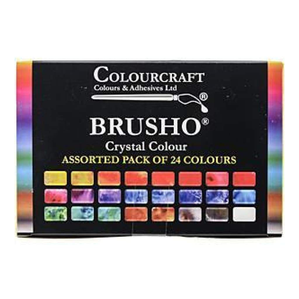 Brusho Crystal Colours - Set 24