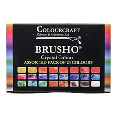 Brusho Crystal Colours Set 24 Pack