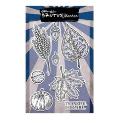 Brutus Monroe Clear Stamps 4inch X6inch Autumn Thanks