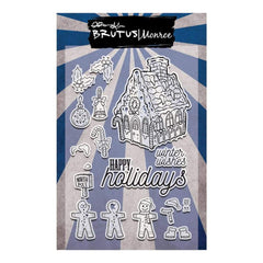 Brutus Monroe Clear Stamps 4inch X6inch Gingerbread Village