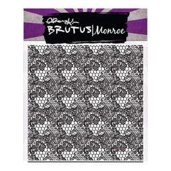 Brutus Monroe Clear Stamps 5.75 inch X5.75 inch Heart Lace Background