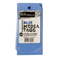 Brutus Monroe Media Tags 4.75 inch X2.38 inch 20 pack Blue