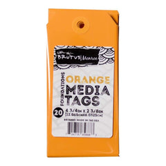 Brutus Monroe Media Tags 4.75 inch X2.38 inch 20 pack Orange