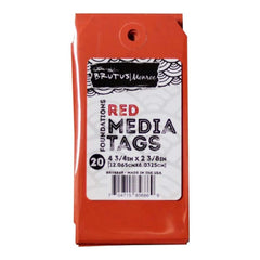 Brutus Monroe Media Tags 4.75 inch X2.38 inch 20 pack Red