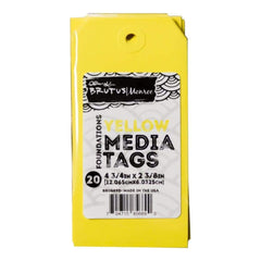 Brutus Monroe Media Tags 4.75 inch X2.38 inch 20 pack Yellow