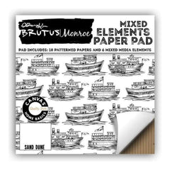 Brutus Monroe Single-Sided Paper Pad 6X6 24 pack Mixed Elements Sand Dune