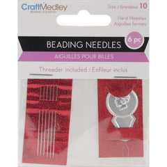 Multicraft Imports - Beading Needles with Threader - Size 10 6 pack