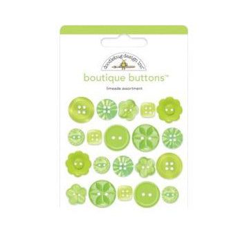 Doodlebug - Boutique Buttons 20 pack - Limeade