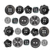 Doodlebug - Boutique Buttons 20 pack - Beetle Black
