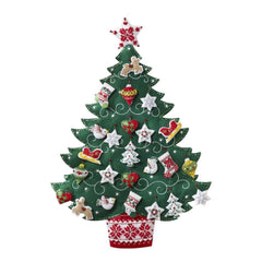 Bucilla Advent Calendar Felt Applique Kit 17 inch X24 inch Nordic Tree