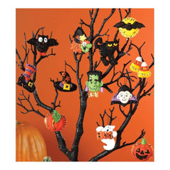 Bucilla Felt Ornaments Applique Kit 3 inch X2 inch Set of 12 Halloween