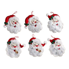 Bucilla Felt Ornaments Applique Kit 4.5 inch X6 inch Set of 6 Santa