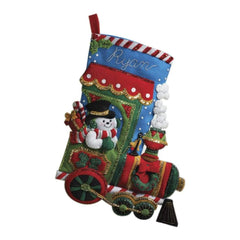 Bucilla Felt Stocking Applique Kit 18 inch Long Candy Express