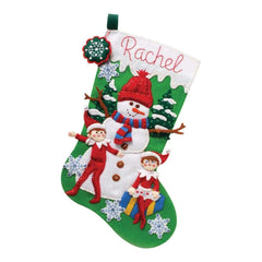 Bucilla Felt Stocking Applique Kit 18 inch Long - Elf On The Shelf