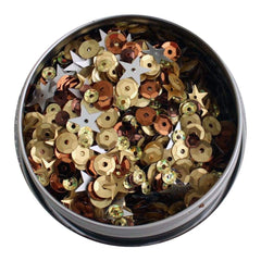 Buttons Galore - 28 Lilac Lane Tin with Sequins 40g Not So Heavy Metal