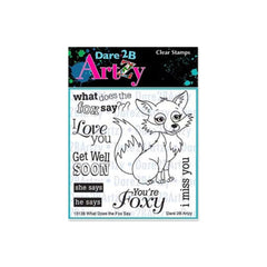 Dare 2B Artzy - Clear Stamps 4X4 Sheet - What Does The Fox Say?