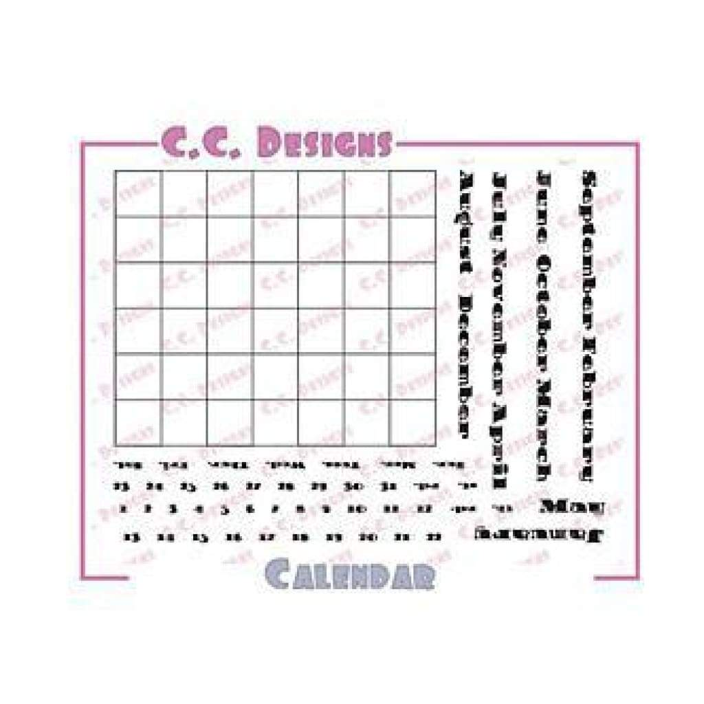 C.C. Designs - Logo Sentiments Cling Stamps 6In. X8in. Calendar