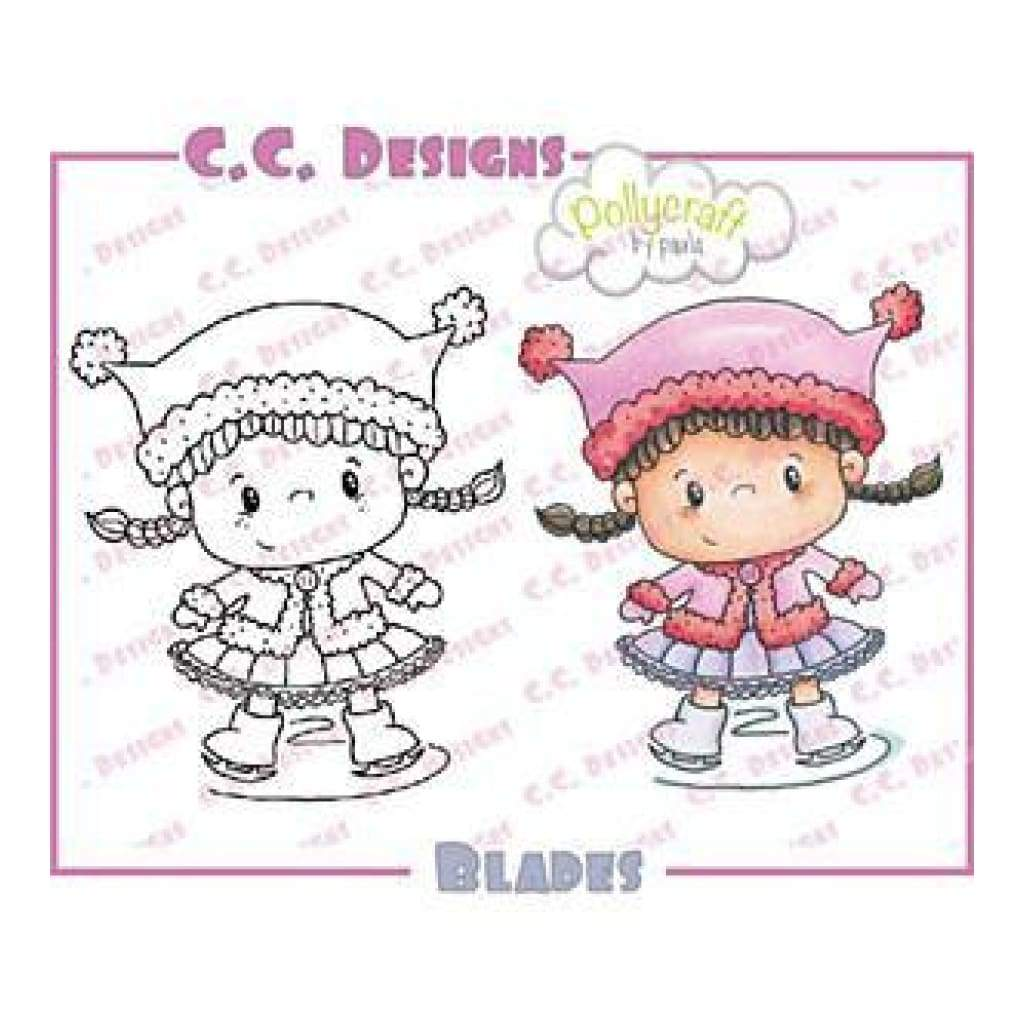C.C. Designs - Pollycraft Cling Stamp 2.75In. X2.25In. Blades