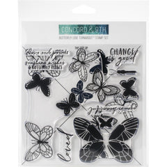Concord & 9th - Clear Stamps 6 inch X6 inch - Butterfly Love Turnabout