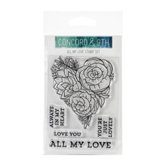 Concord & 9th Clear Stamps 3in x 4in - All My Love