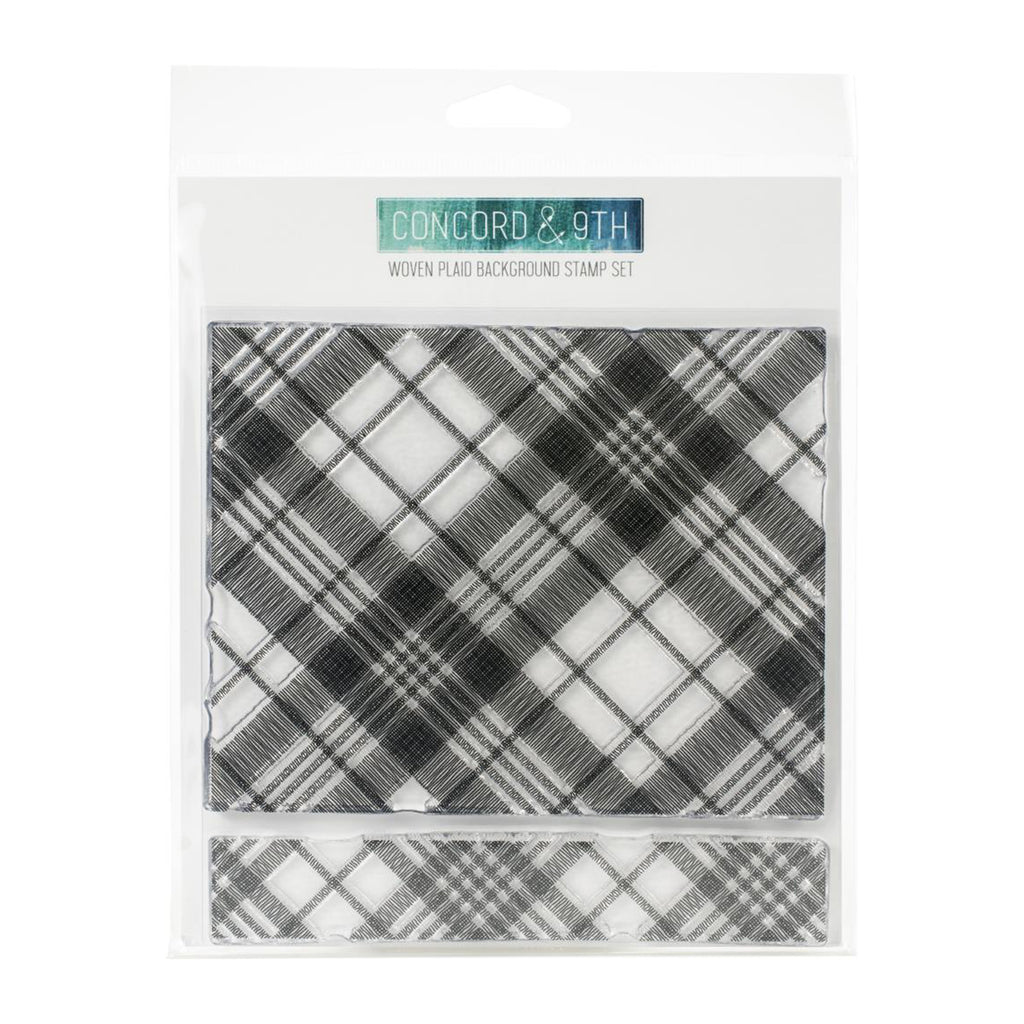 Concord & 9th Stamps - Woven Plaid Background