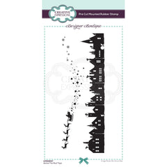 Creative Expressions Designer Boutique Pre Cut Rubber Stamp DL - Above The Roof Tops