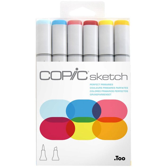 Copic Sketch Set 6 Perfect Primaries