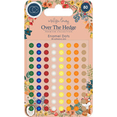Craft Consortium - Over The Hedge Adhesive Enamel Dots 80 pack Assorted Colours