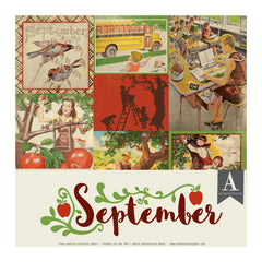 Authentique Double-Sided Cardstock Pack 12in X 12in 11 pack - September