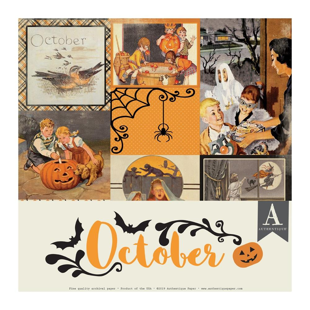 Authentique Double-Sided Cardstock Pack 12in X 12in 11 pack - October