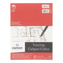 Canson Foundation Series Tracing Paper Pad - 50pk 9 inch X 12 inch