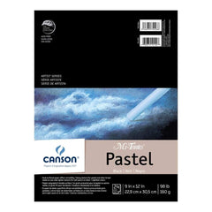 Canson Mi-Teintes Pastels Paper Pad 9 inch X12 inch Assorted Canson Mi-Teintes Pastels Paper Pad 9 inch X12 inch Black 24 SheetsColours 24 Sheets