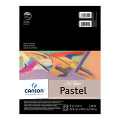 Canson Mi-Teintes Pastels Paper Pad 9 inch X12 inch Assorted Colours 24 Sheets