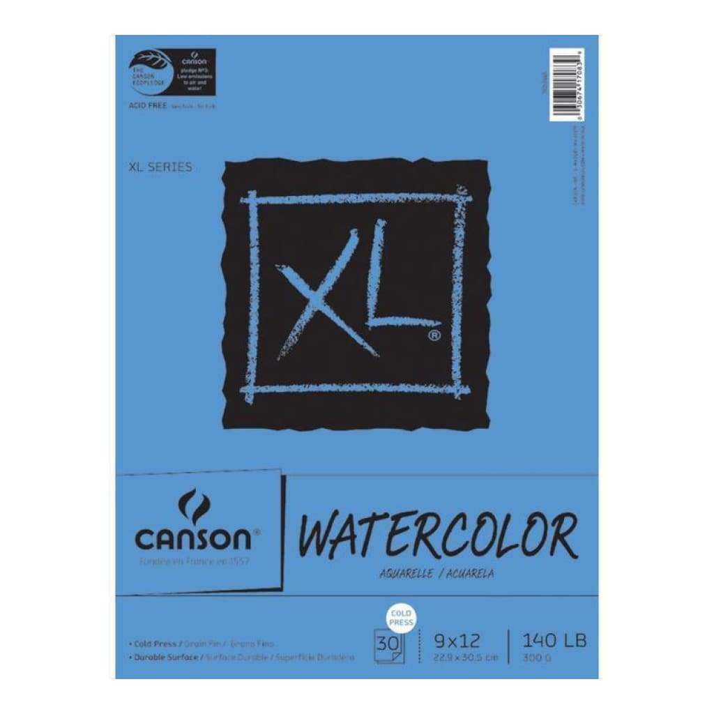 Canson Xl Watercolour Paper Pad 9X12 Inch - 300Gsm (30 Sheets)