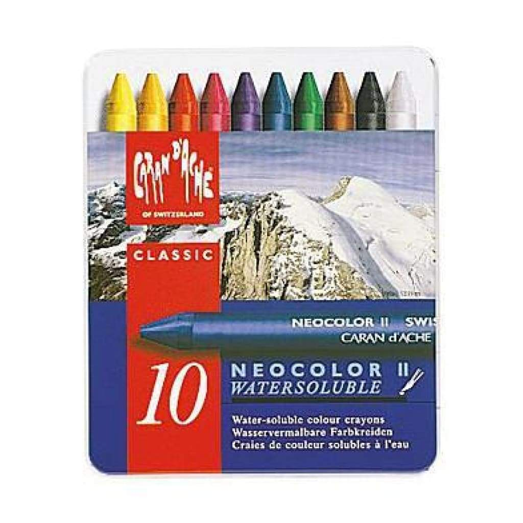 Caran D'ache - Neocolor 2 Water Soluble Wax Pastels 10 Pk